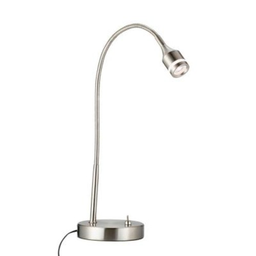 Adesso Prospect 18 in. Satin Steel LED Desk Lamp