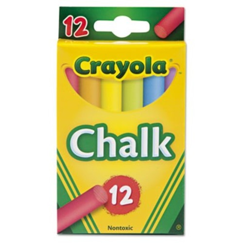 Crayola 12 Sticks Assorted Colors Chalk (51-0816)