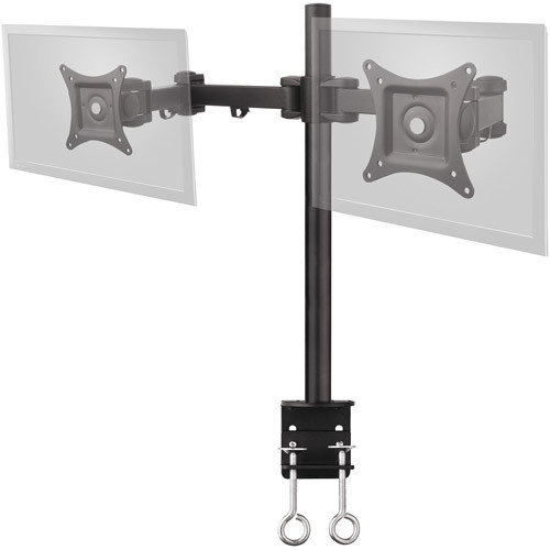 SIIG Tilt/swivel/rotate/Extend Desk Mount for 13 to 27 Inches Dual Monitor, Black (CE-MT0Q11-S1)