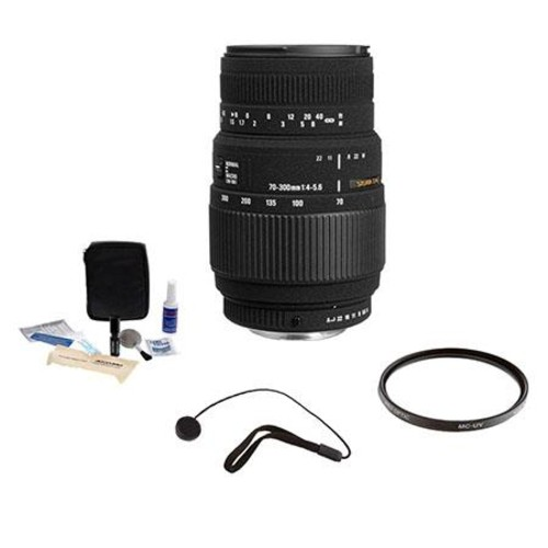 Sigma 70-300mm f4-5.6 DG Macro Telephoto Zoom Lens for Canon #509101 -Bundle- 509101 K