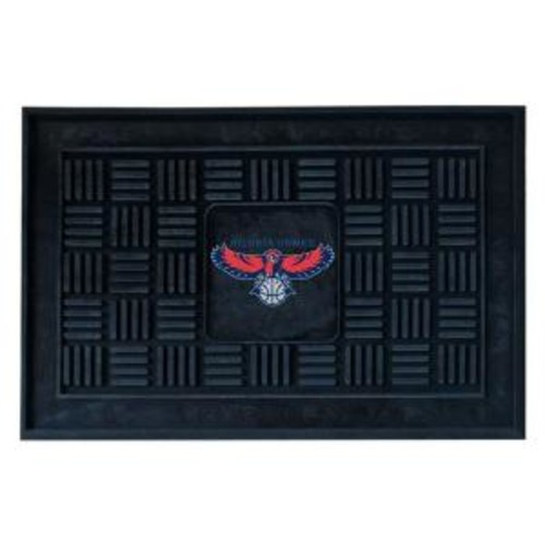 FANMATS Atlanta Hawks 18 in. x 30 in. Door Mat