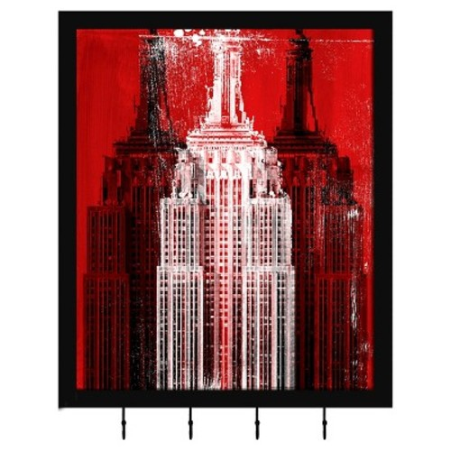 Empire State Building Decorative Box With Metal Hooks
