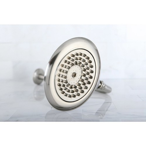 Satin Nickel Vintage Bell 6-in Shower Head with Shower Arm