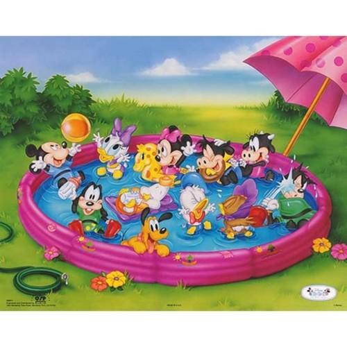 ''Disney Babies: Kiddie Pool'' by Walt Disney Humor Art Print (16 x 20 in.)