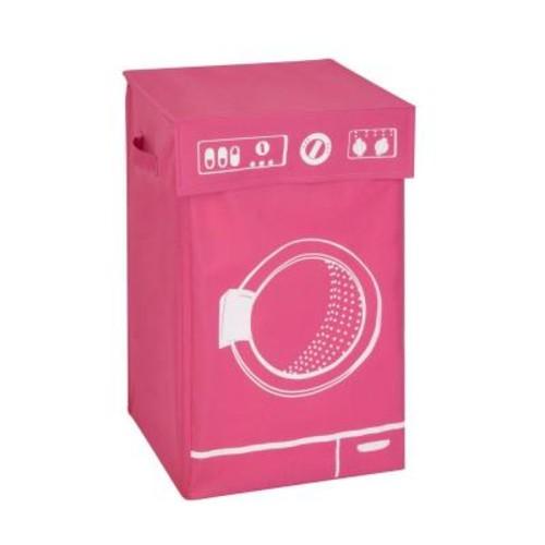 Honey-Can-Do Washing Machine Graphic Hamper in Pink