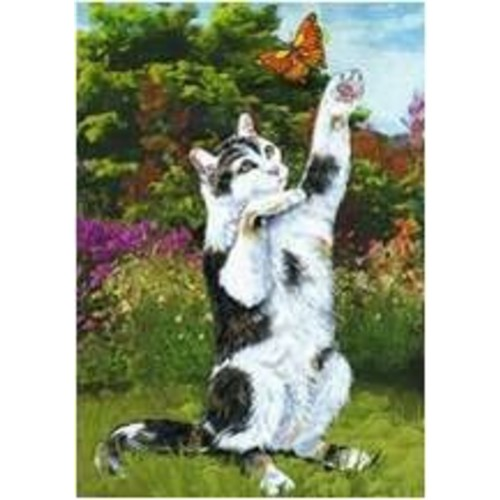 The Cranford Group Cat and Butterfly Garden Flag
