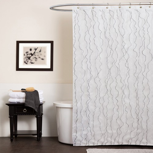 Romana White Shower Curtain