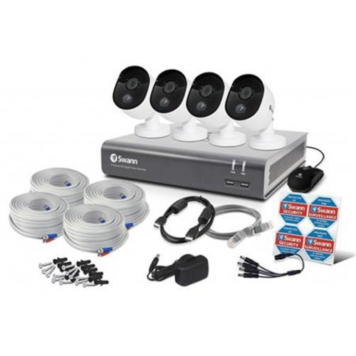 Swann 8 Channel DVR with 1TB HDD and 4x 1080p Bullet Cameras with Night Vision