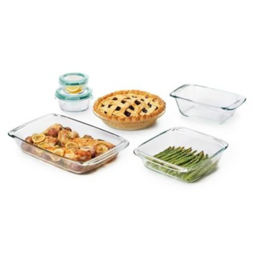 OXO Good Grips 8-Piece Glass Baking Dish Set with Lids