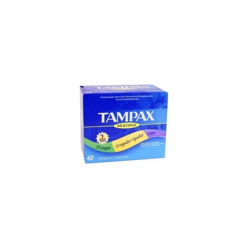 Tampax Multipax, 40-Count Package