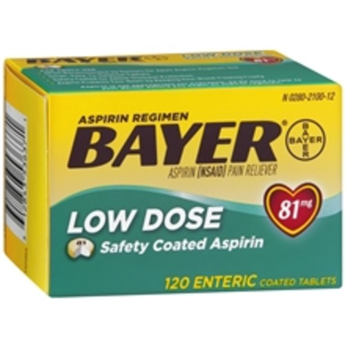 Bayer Aspirin Regimen Low Dose, Safety Coated Enteric Tablets
