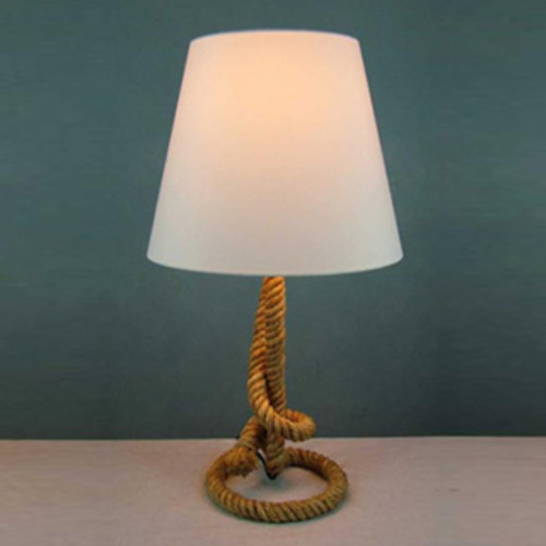 SB Modern Home Nautical Pier Medium Rope Table Lamp