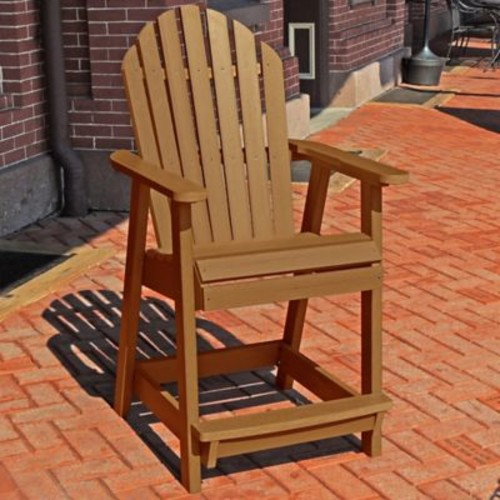 Longshore Tides Deerpark Dining Arm Chair; Toffee