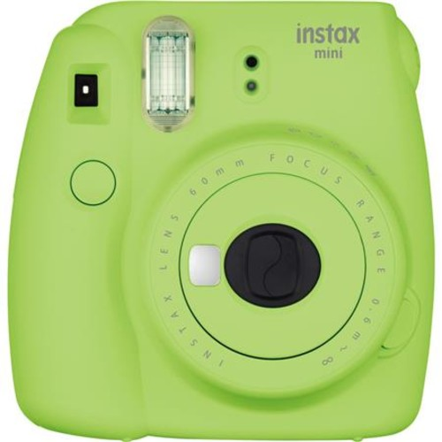FujiFilm Instax Mini 9 Camera, Lime Green With 3x Instax Films and Accessories