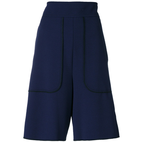 SEE BY CHLOÉ Knee Length Piped Shorts