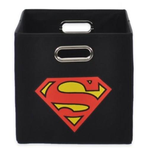 Modern Littles Superman Folding Storage Bin in Black