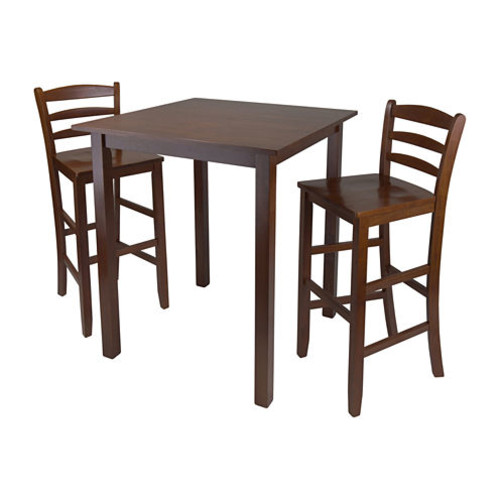 Winsome Parkland 3-Pc High Table with 2 Ladder Back Stool