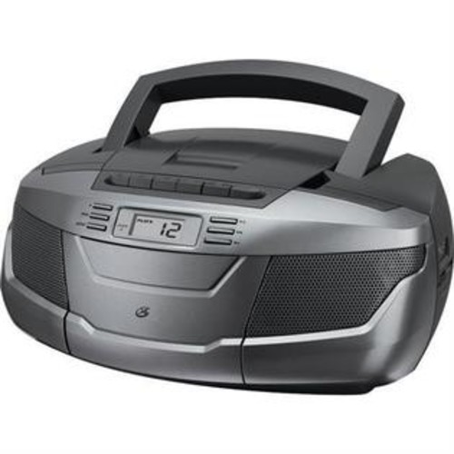 GPX BCA206S CD Boom Box with AM FM Radio Cassette Player