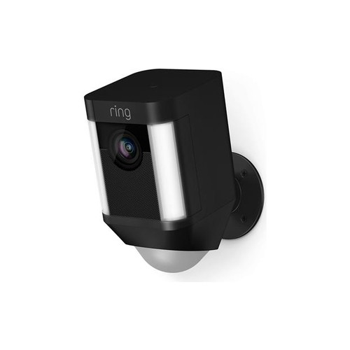 Ring Spotlight Cam Battery (Black) Battery-powered security camera with LED spotlights and siren