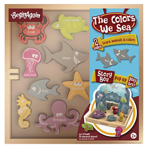 BeginAgain Toys Colors We Sea Story Box - Theme/Subject: Animal, Fun - Skill Learning: Creativity, Fine Motor, Reading, Color Identification, Imagination