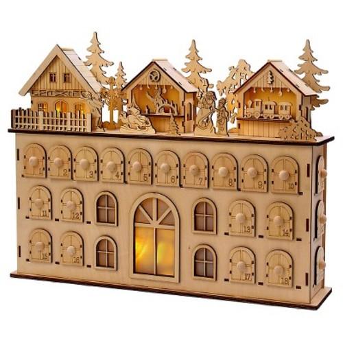 LED Wooden Christmas Advent Calendar