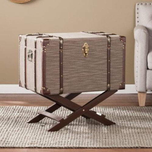 Southern Enterprises Devane Trunk File Storage in Brown