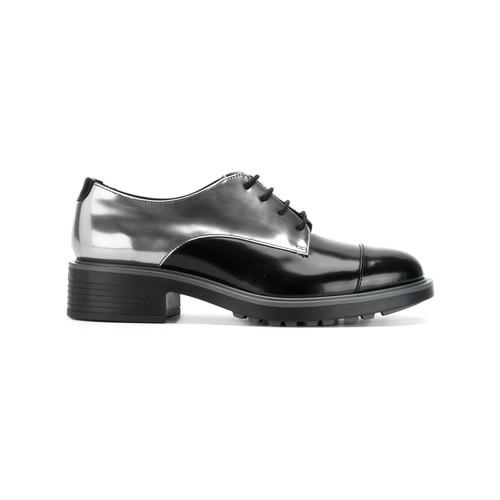 metallic derby shoes