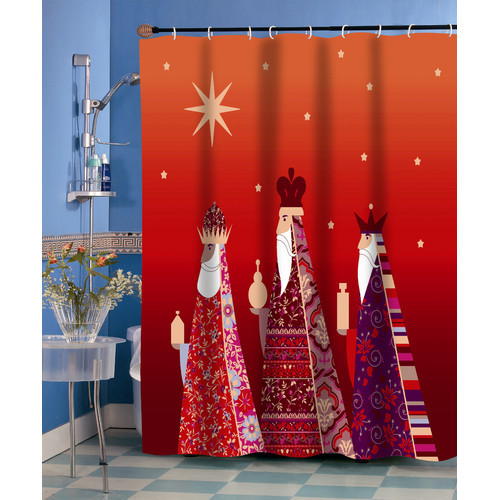 Reinhard Polyester Holiday Shower Curtain