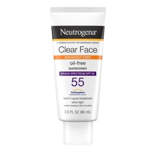 Neutrogena Clear Face Sunscreen Lotion - SPF 55 - 3oz