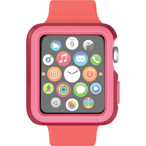 CandyShell Fit Case for 38mm Apple Watch (Crimson Red/Splash Pink)