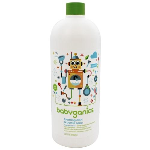 BabyGanics - Foaming Dish & Bottle Soap Eco Refill Fragrance Free - 32 oz.