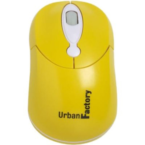 Urban Factory Crazy Mouse USB Wired 800 dpi Optical Mouse, Yellow