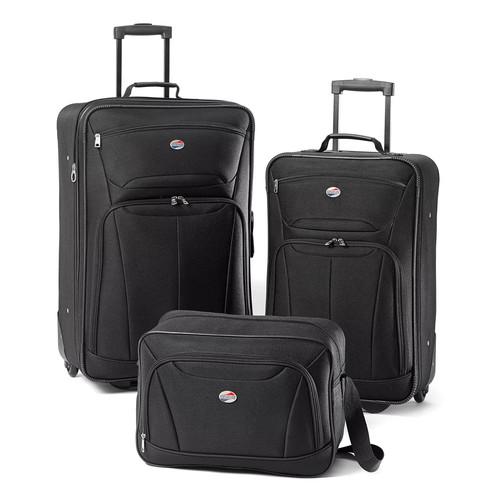American Tourister - Fieldbrook II Luggage Set (3-Piece) - Black