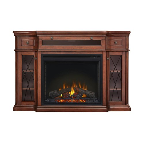 NAPOLEON The Colbert 33 in. Media Package Electric Fireplace in Antique Mahogany (2-Cartons)