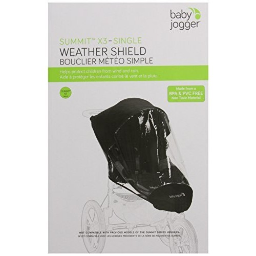 Baby Jogger Weather Shield Stroller Cover- Summit X3 Single Stroller [Summit X3 Single]