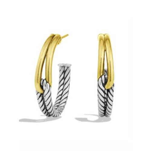 Labyrinth Hoop Earrings with G
