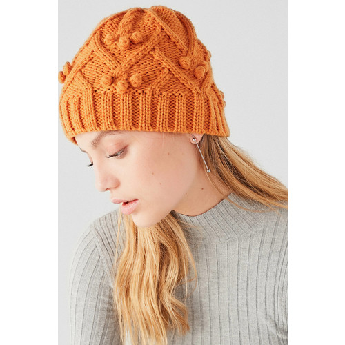 Cable Knit Bobble Beanie [REGULAR]