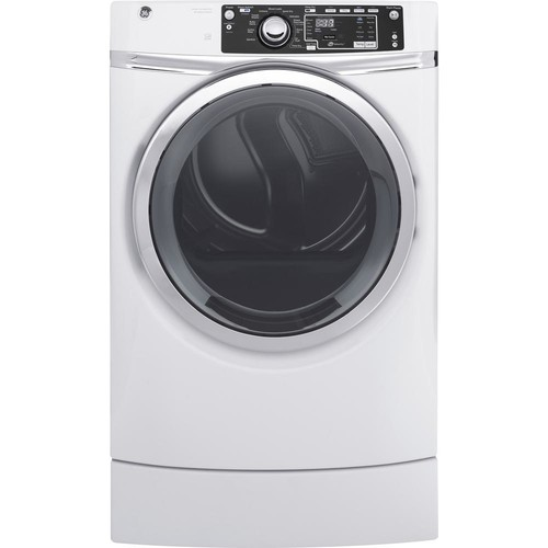 GE 8.3 cu. ft. Electric Dryer with Steam in White, ENERGY STAR