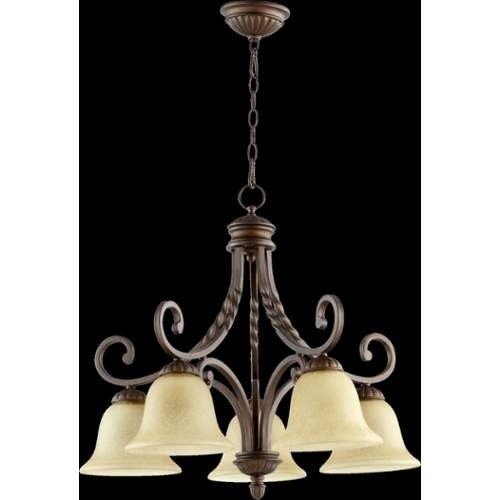 Quorum International 6478-5 Tribeca II 5 Light 1 Tier Chandelier
