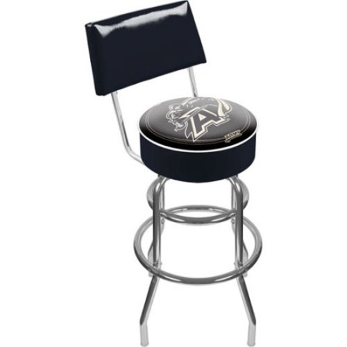 Trademark Global Army Padded Bar Stool with Back