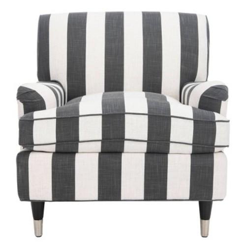 Chloe Club Chair Black/White - Safavieh