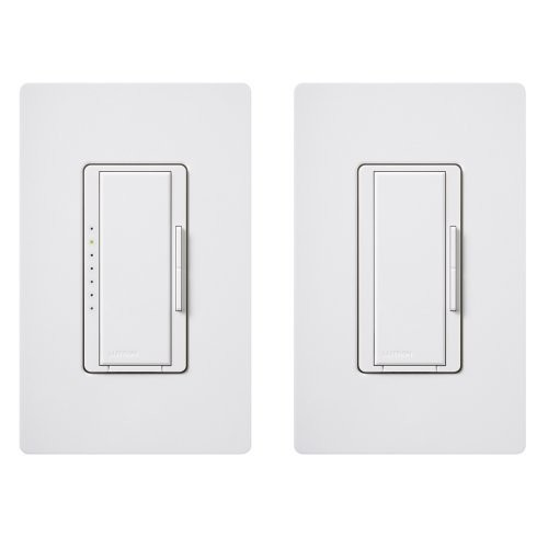 Lutron Maestro C.L Dimmer Kit for dimmable LED, Halogen and Incandescent Bulbs, Single-Pole/3-Way/Multi-Location, MACL-153M-RHW-WH, White [White]
