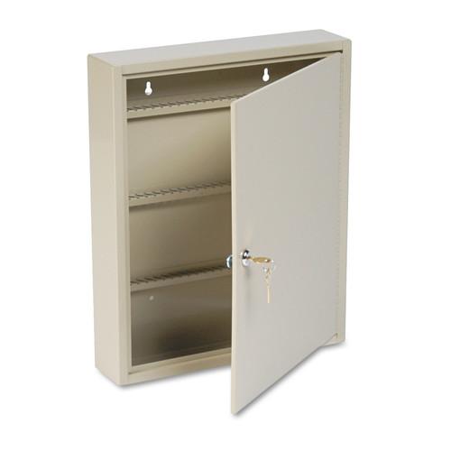 MMF Industries MMF201908003 SteelMaster Uni-Tag Key Cabinet, 80-Key, Steel, Sand, 14 x 3 1/8 x 17 1/8