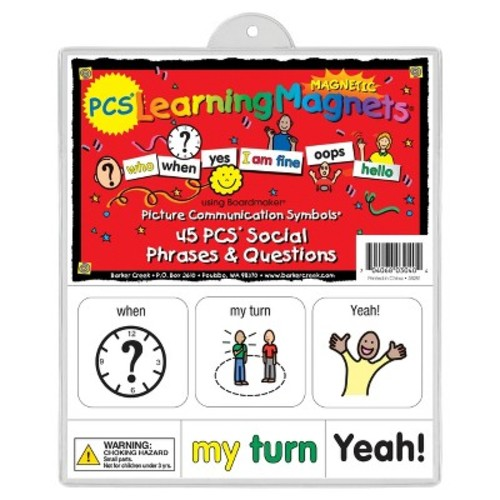 Barker Creek - Office Products Learning Magnets, 45 Pieces Social Phrases & Questions (LM-3040)