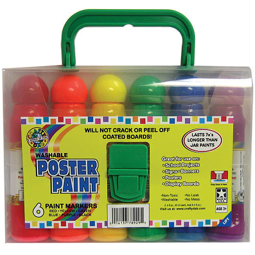 Washable Poster Paint Markers - 6 Pack