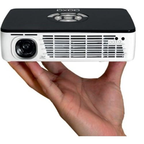 AAXA P300 WXGA (1280x800) HD Pico Projector, Black/White