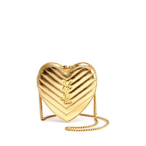 SAINT LAURENT Monogram Small Love Crossbody Bag, G