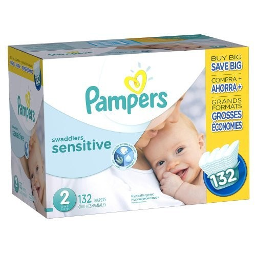 Pampers Swaddlers Sensitive Disposable Diapers Size 2, 132 Count [2]