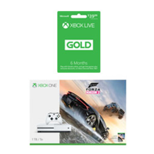 Xbox One S Forza Horizon 3 (Digital) 1TB Console with 6-Month Xbox Live Gold Membership