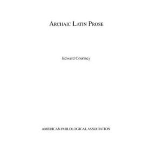 Archaic Latin Prose